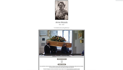 funeral webcast company