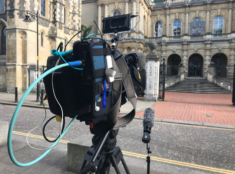 Just In The Nick of Time For ITV Meridian - Reading Cameraman