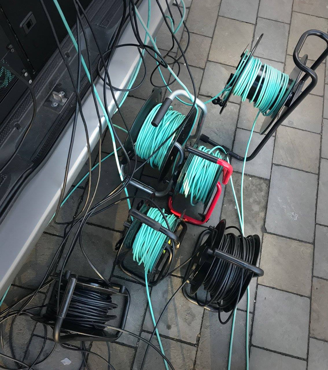 400m of SDI video cables.
