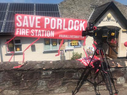 Save Porlock Fire Station - Somerset Cameraman