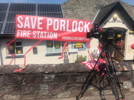 Save Porlock Fire Station - Somerset Cameraman