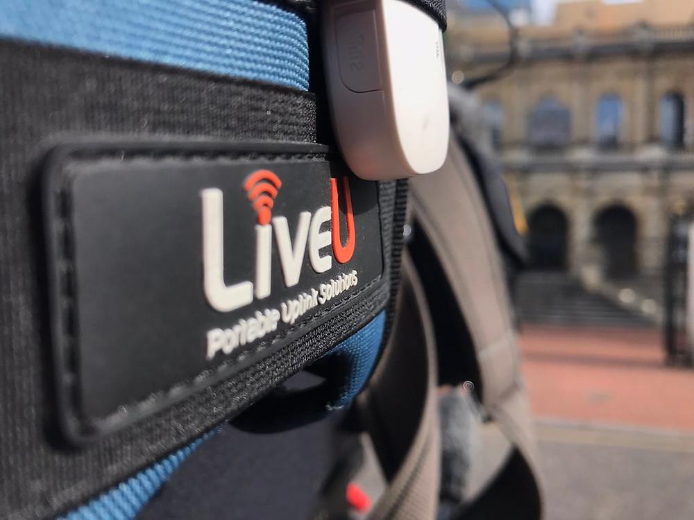 UK cameraman with LiveU