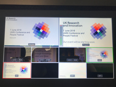 StreamWorks Deliver Live Stream for UK Research & Innovation Conference