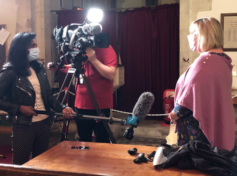 The Masked Covid Choir - Hampshire Filming for ITV News