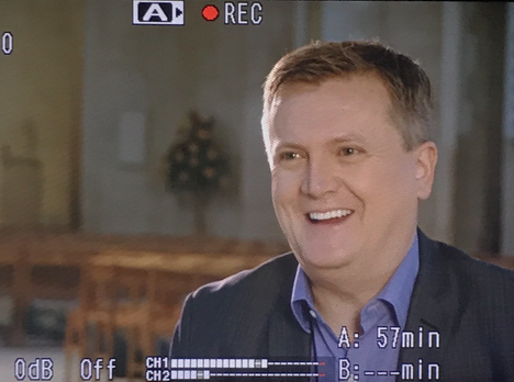 Aled Jones Interview for ITV News - Guildford Cameraman
