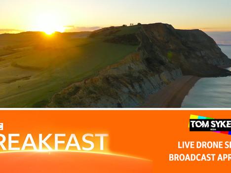 Dorset Landslide Story - Live Drone