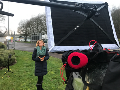 RAF Brize Norton - Cameraman with LiveU
