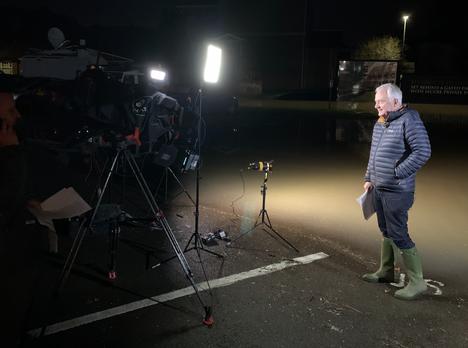 Storm Dennis Floods - BBC News Coverage