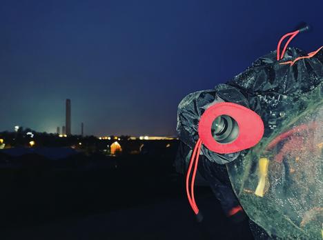 Didcot Tower Demolition During Storm Ciara - Oxford Cameraman