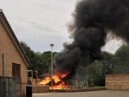 Hook Norton School Arson - Cameraman Oxfordshire