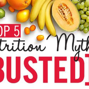 First Blog Post! Nutrition Myth Busting