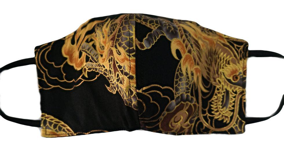 FACEMASK Dragon negro