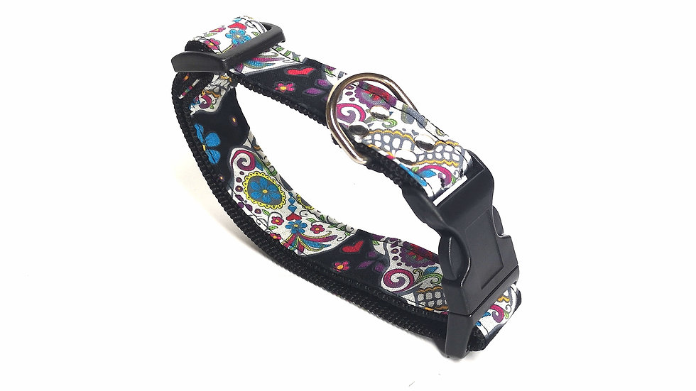 COLLAR Sugar skull black