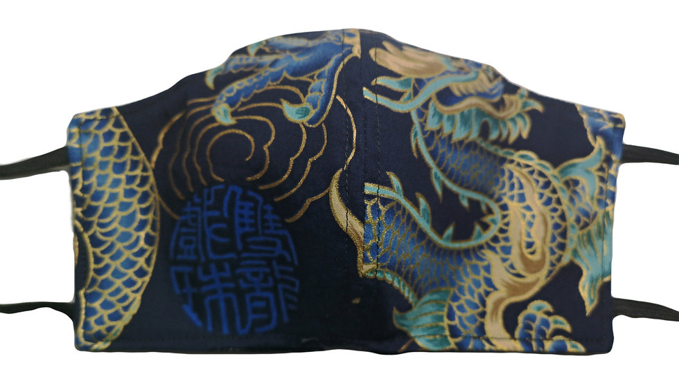 FACEMASK Dragon azul