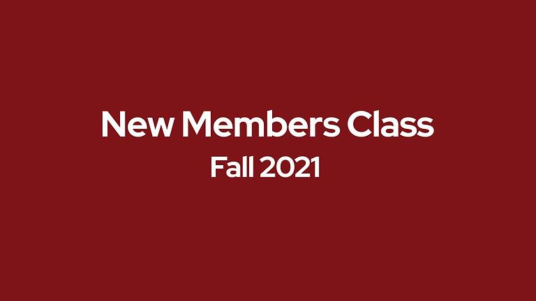 New Members Class - Fall 2021