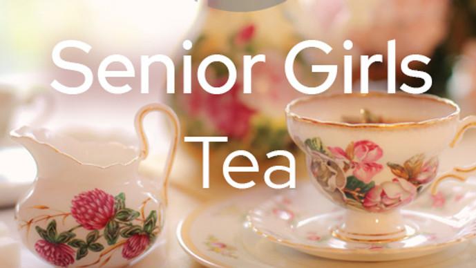 Senior Girls Tea