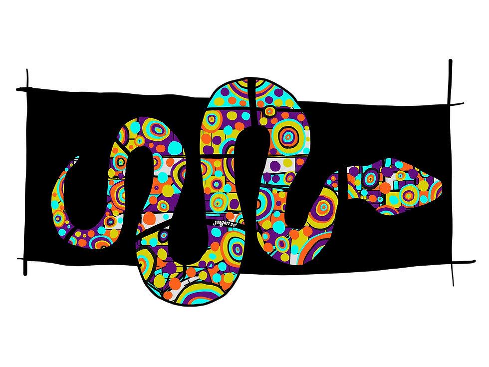 Rainbow serpant artwork by jungari