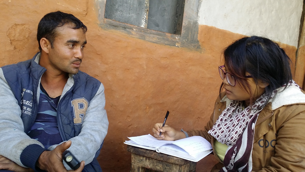 Nepali Gundas Darju talks with Aythos staff member Sujata about the struggles of working abroad and his life as a Dalit.