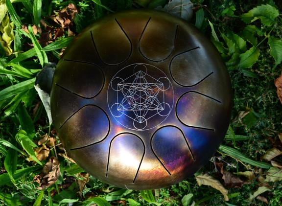mini cube de metatron tankdrum - instrument de musique - hang - handpan - yoga