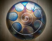 spirale bleue et dorée