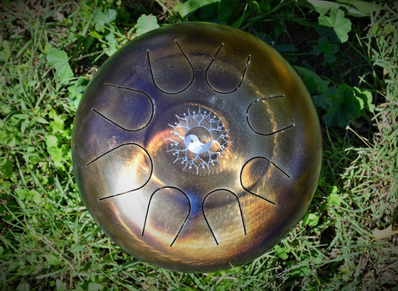 yin yang dremel tankdrum - instrument de musique - hang - handpan - yoga