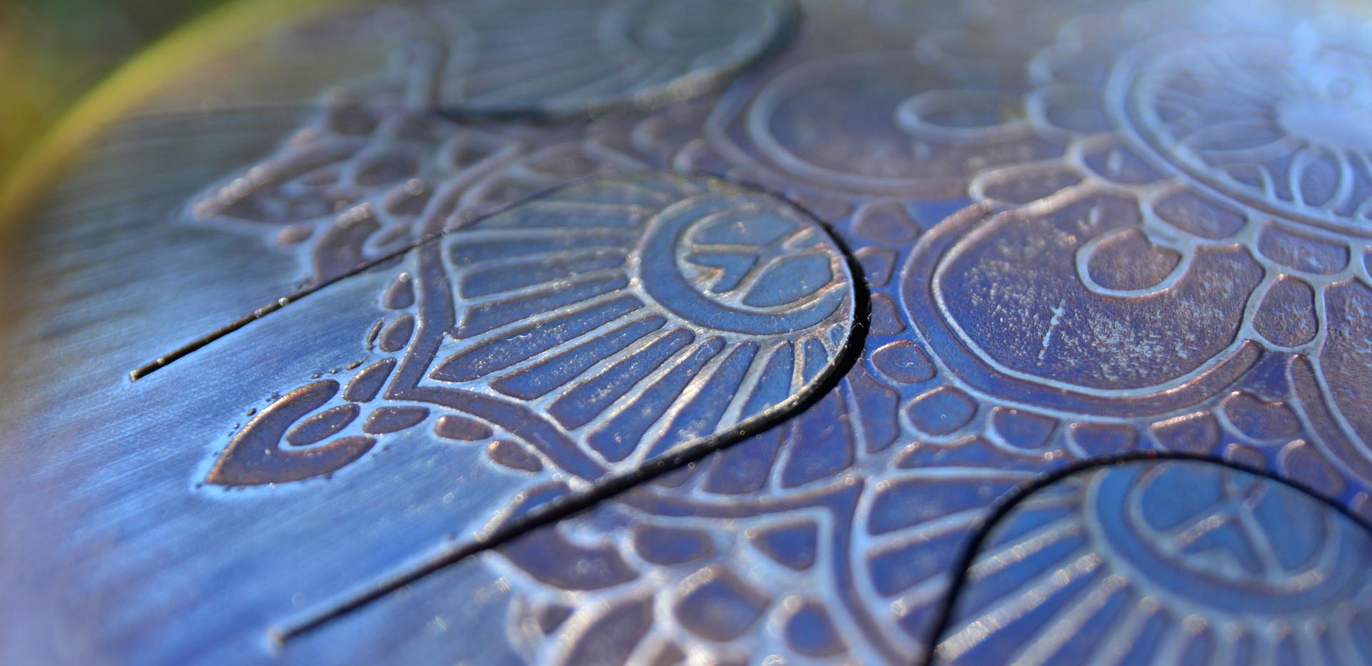 Mandala en relief osb drum
