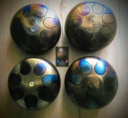 4 petits tank drum handpan hang percussion