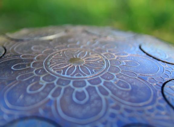 mandala floral osb-drum tankdrum - handpan