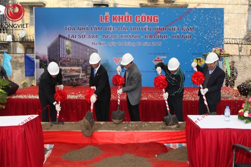 Nghi thức mở đầu của lễ khởi công tòa nhà làm việc Đài truyền hình Việt Nam