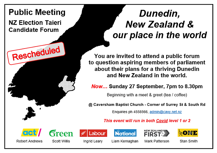 NZ Election Taieri Candidate Forum - Cav
