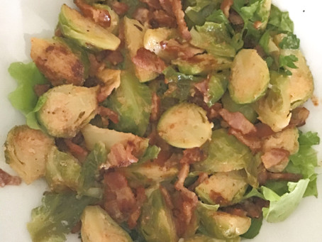Brussel Sprouts with Bacon and Maple Chili Heat Um Um Good!