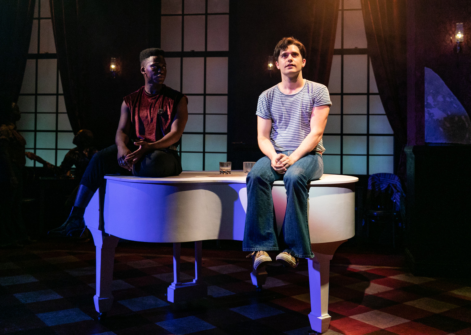 L-R Tyrone Huntley & Andy Mientus in The