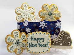 Happy New Year Themed Cookies