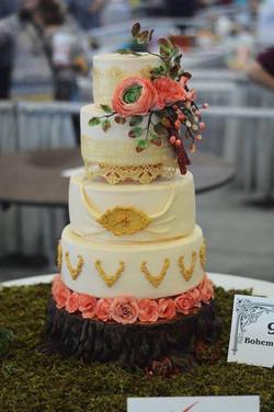 Bohemian Rhapsody Wedding Cake