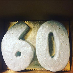 Check out this Sparkling Number Cake! #s
