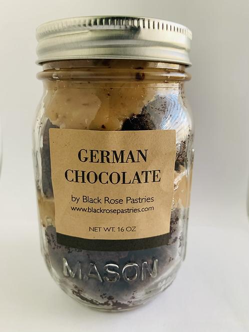 German Chocolate Cake Jar