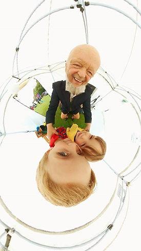 Micheal Evis Mini Planet and grandchildr