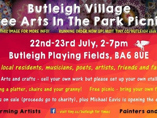 Butleigh Village- Free Arts in the Park Picnic 2017