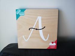 """A"" Wood Sign (2019)"