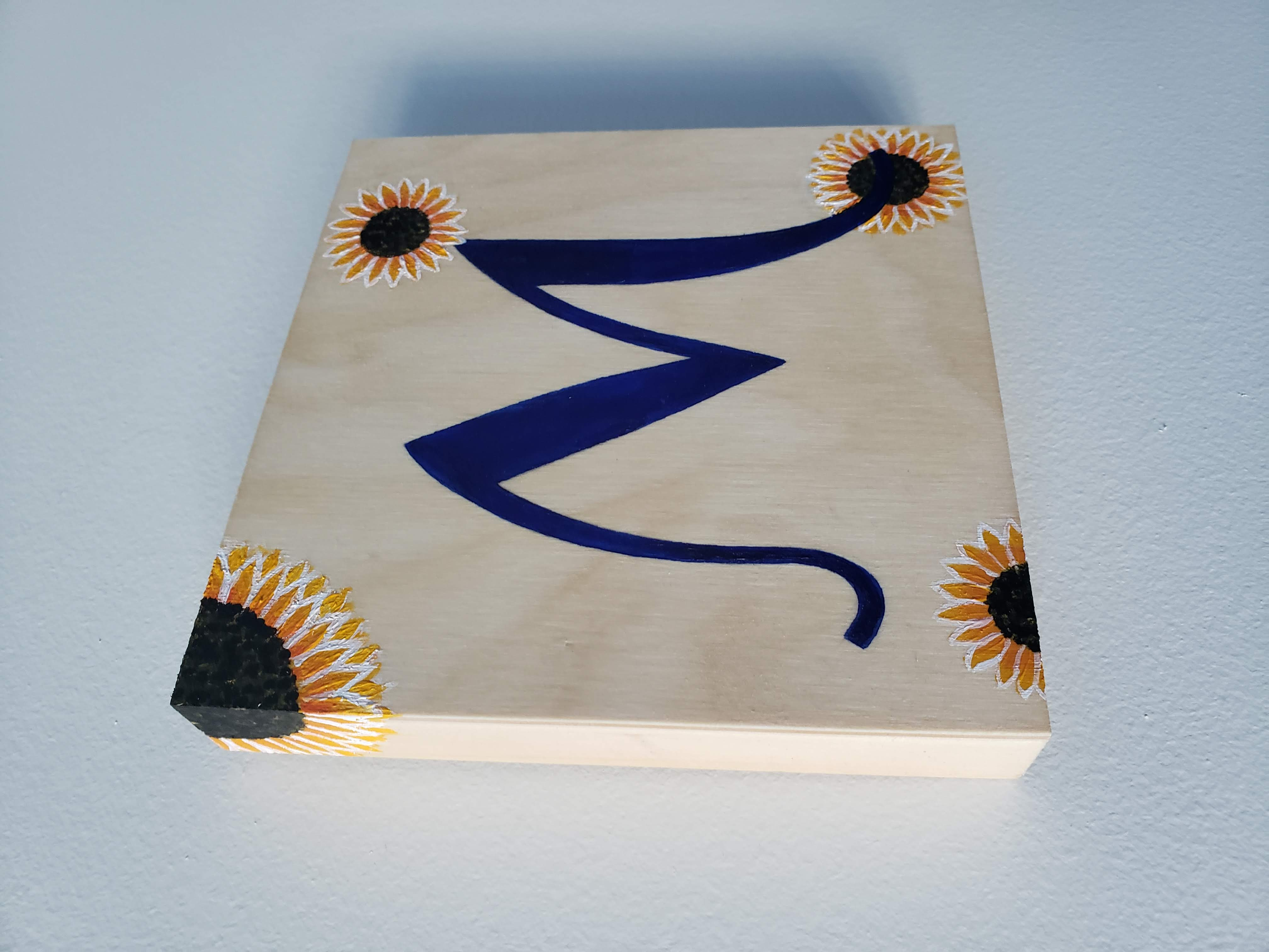"""""""M"""" Wood Sign (2019)"""