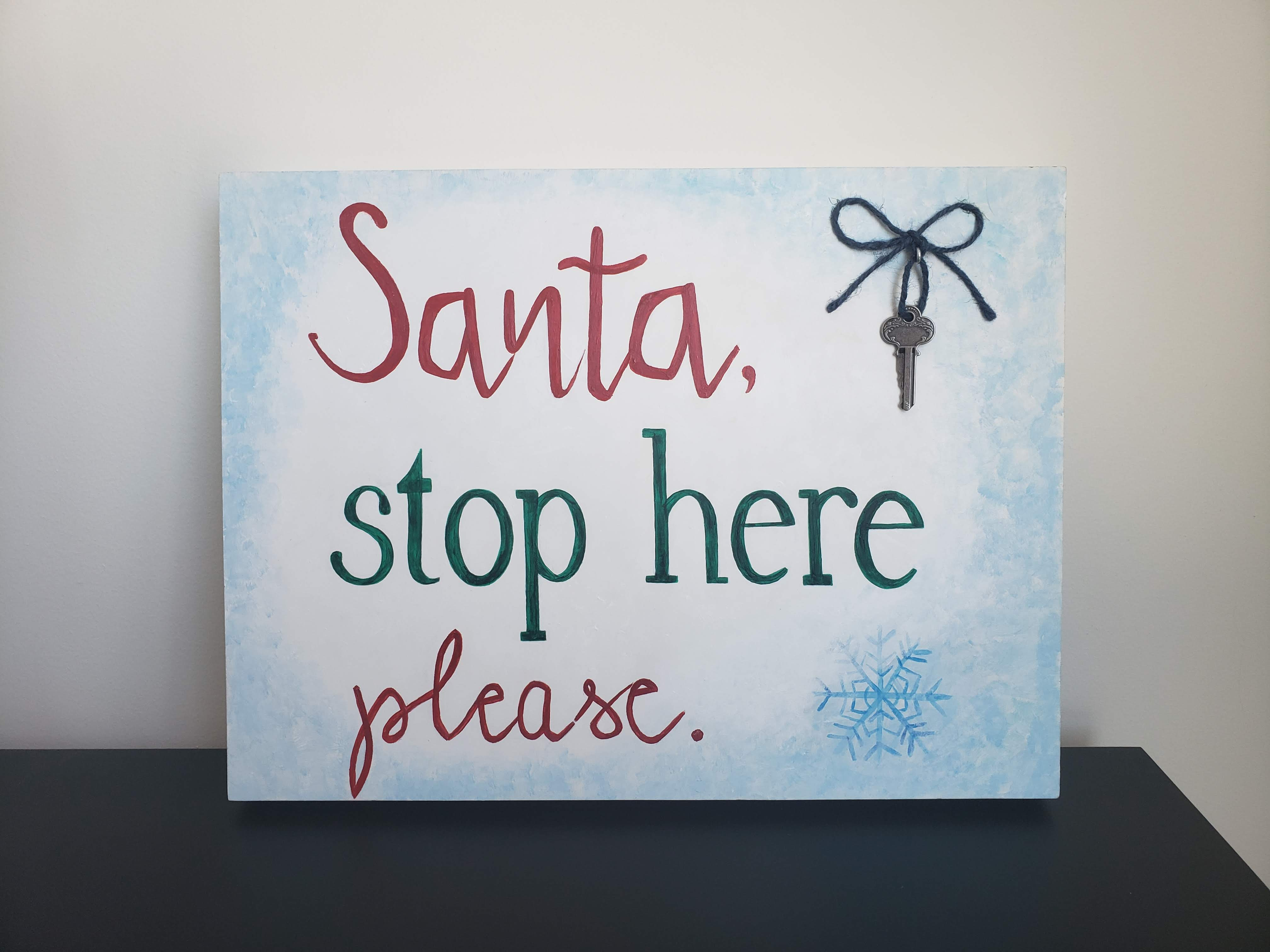 Santa, Stop Here Please (2018)