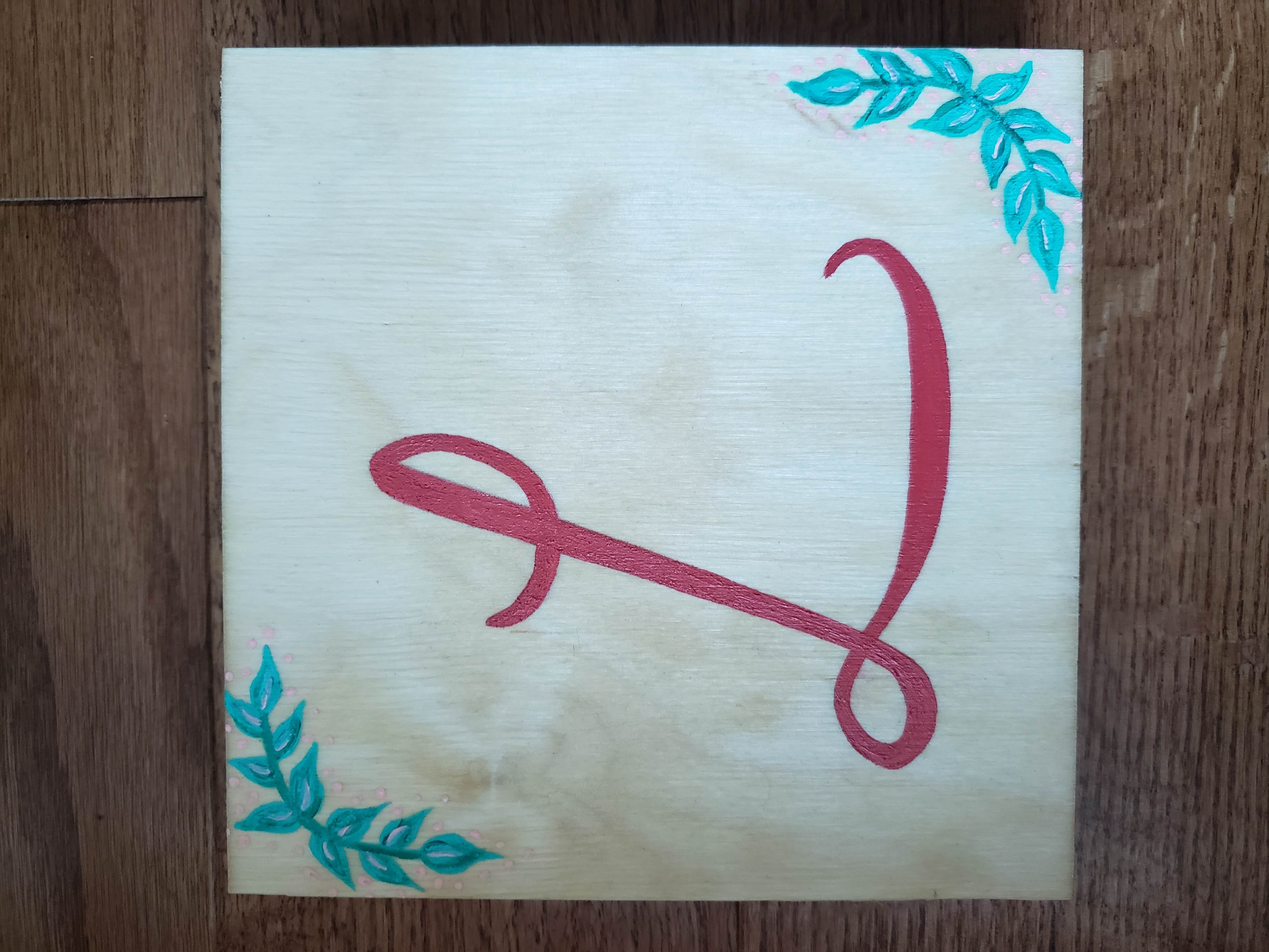 """""""L"""" Wood Sign (2019)"""