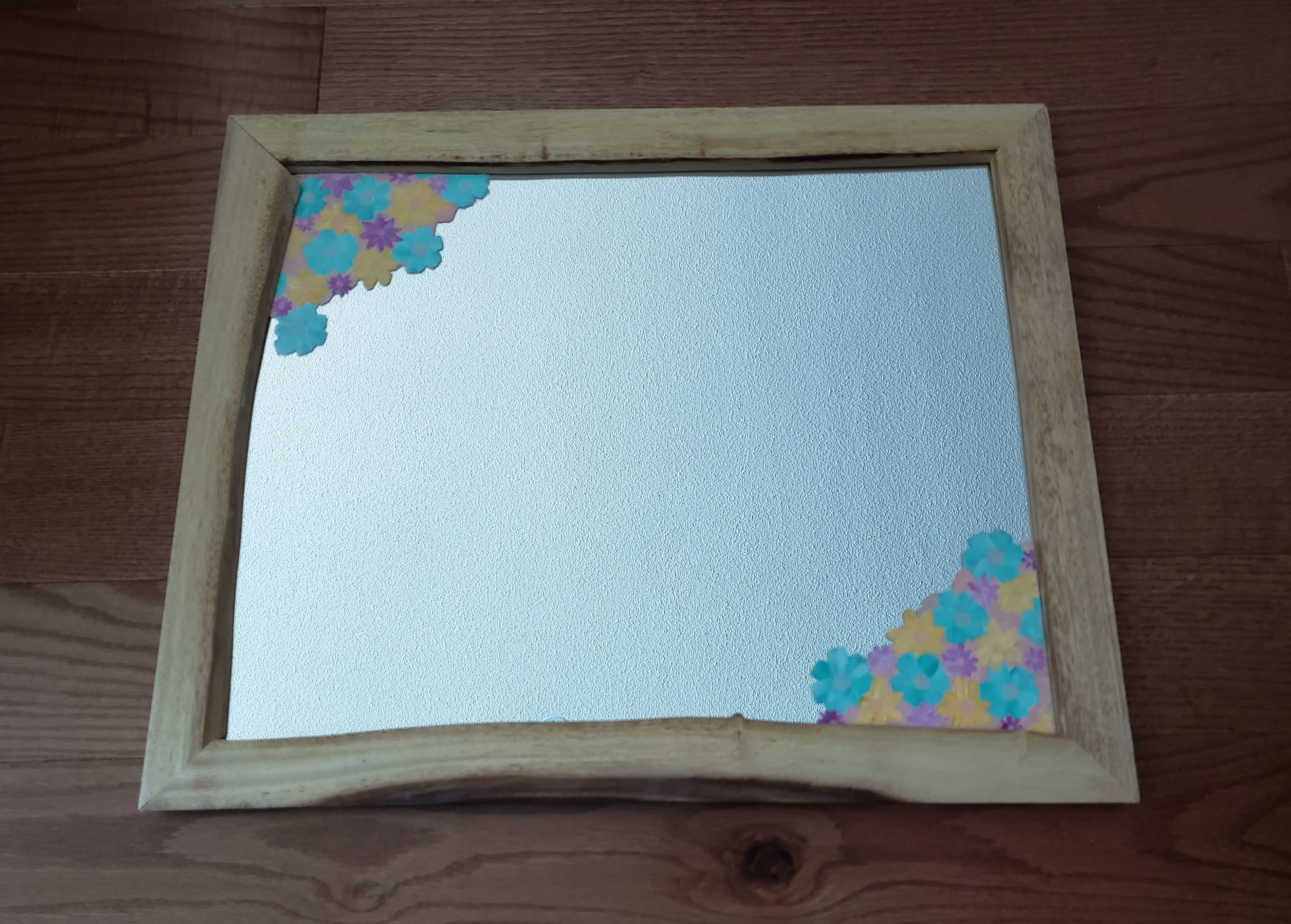 Customizable Mirror with Pastel Floral Details (2020)