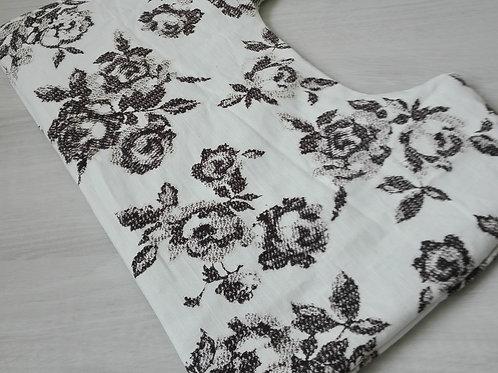 """Oat Pillow """"White Rose"""""""