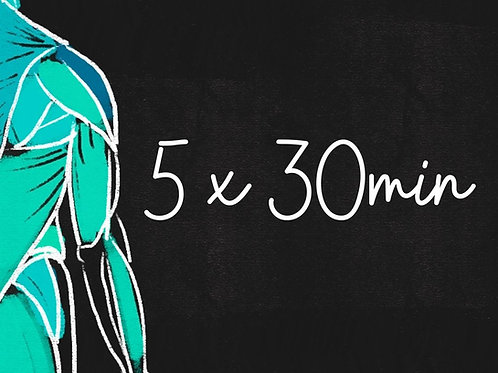 5 x 30 min Hieronta
