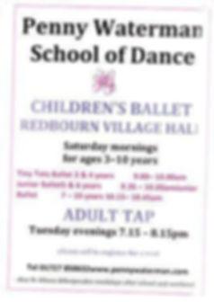 Penny Waterman School of Dance in Redbourn Village Hall