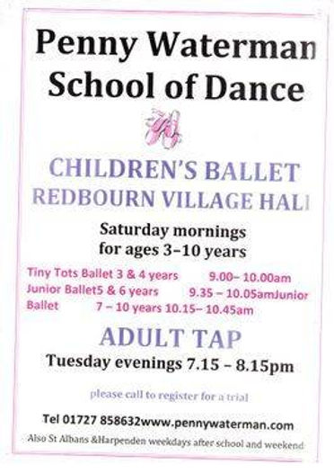 Penny Waterman School of Dance in Redbourn Village Hall