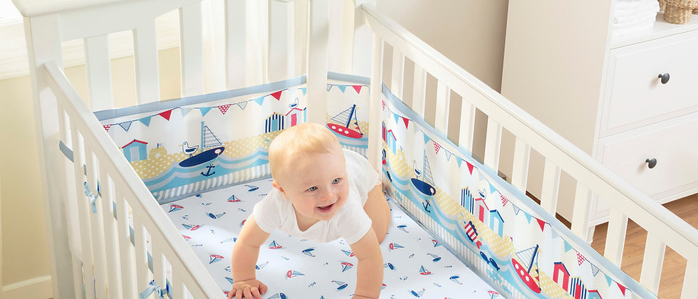 BreathableBaby 4 Sided Cot Liner - By the Sea
