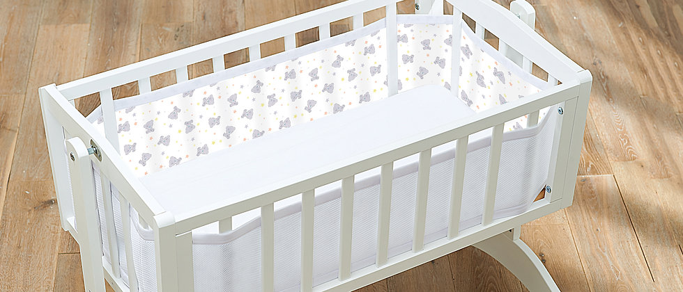 Crib Liner - Tiny Tatty Teddy
