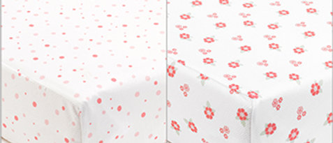 BreathableBaby SuperDry Sheets - English Garden 140cm x 70cm